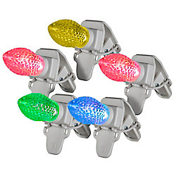 Ensemble de 20 ampoules rondes C9 ClipLights ColourMotion, multicolore