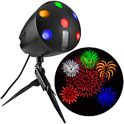 LED Fireworks Projection Spot Light with Sound