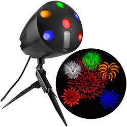LightShow LED Fireworks Projection Spot Light with Sound