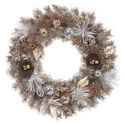 Home Accents Harvest 30-inch Gold Mixed Pine Unlit Wreath