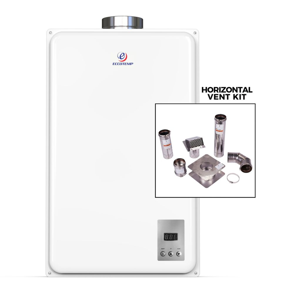 "Eccotemp Eccotemp 45HI-NG Indoor Natural Gas Tankless Water Heater (w/ 4"" Horizontal Vent Kit)"