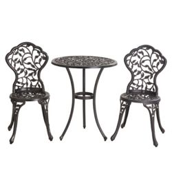 Sunjoy Cast Leaf Bistro Set