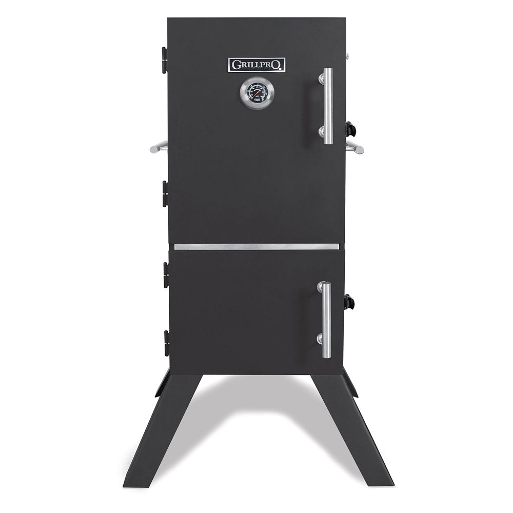 GrillPro Vertical Charcoal Cabinet Smoker | The Home Depot Canada