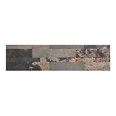 Medley Slate - 4mcx - 5.9 po x 23.6 po Tuile de Pierre Autocollante Pour Dosseret