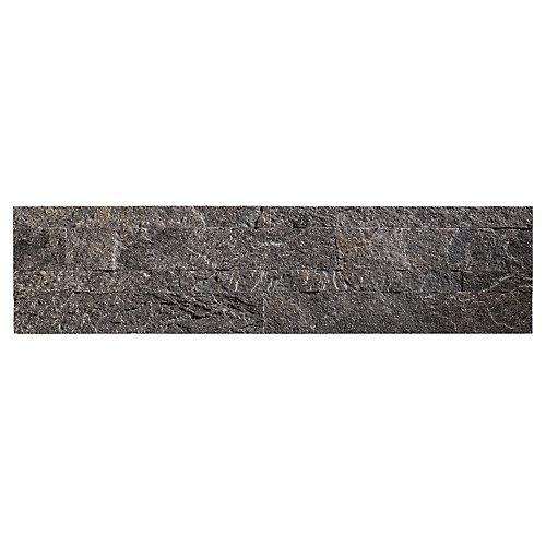 "Frosted Quartz - 4-Piece - 5.9"""" x 23.6"""" Peel and Stick Stone Backsplash Tile"