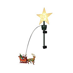 20-inch Santa with Sleigh Christmas Tree Topper