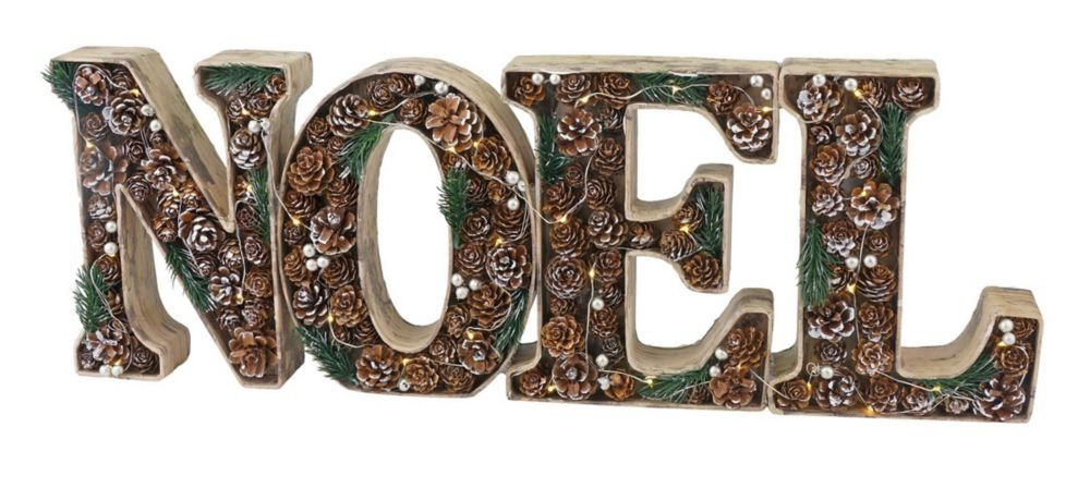 """Home Accents Holiday LED-Lit """"Noel"""" Sign"""