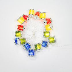 Home Accents Holiday 18-Light Multi-Colour LED Drum Christmas Decoration