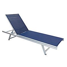 Chaise Longue Inclinable Gallant En Bleu Marin Pour La Terrasse