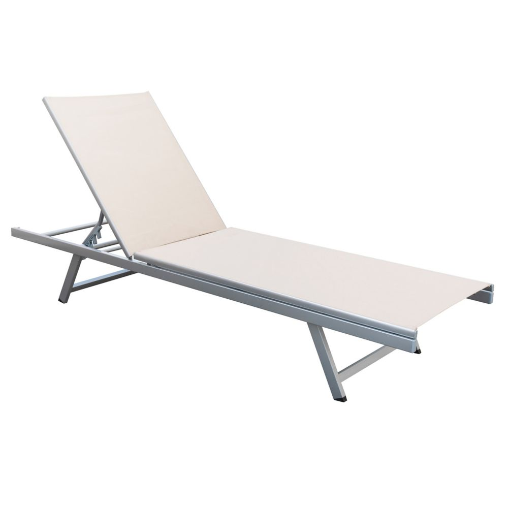 Corliving Gallant Beige Reclining Patio Lounger