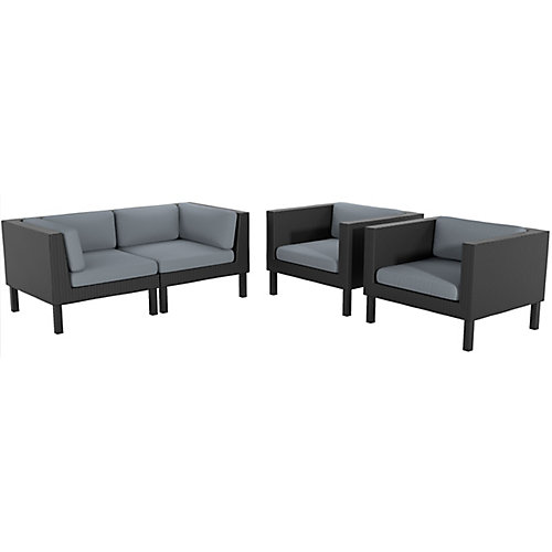 Oakland 4-Piece Patio Loveseat and Chair Set