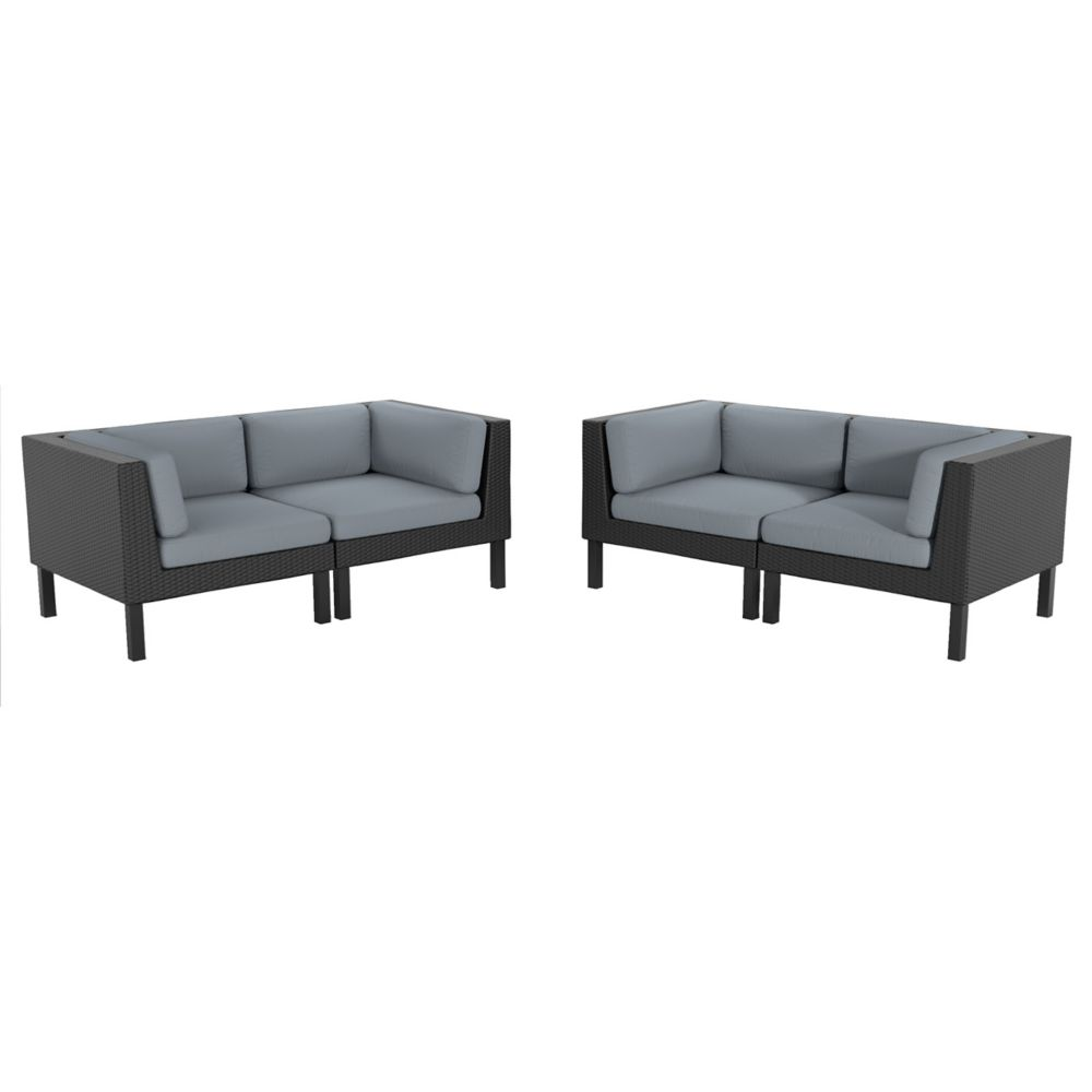 Oakland 4-Piece Patio Loveseat Set