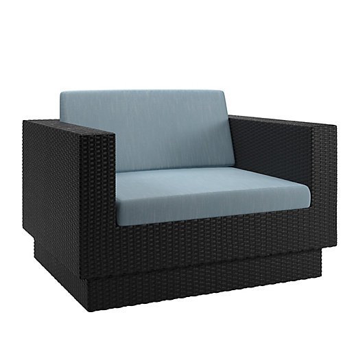 Park Terrace Patio Chair in Textured Black Weave