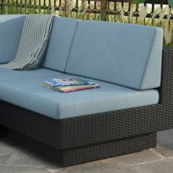 Corliving Park Terrace Middle Patio Sectional Seat in Textured Black Weave