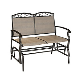 Corliving Dark Brown Patio Double Glider