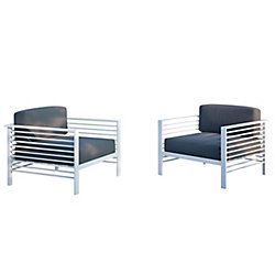Corliving Nantucket Patio Lounge Chairs, (Set of 2)
