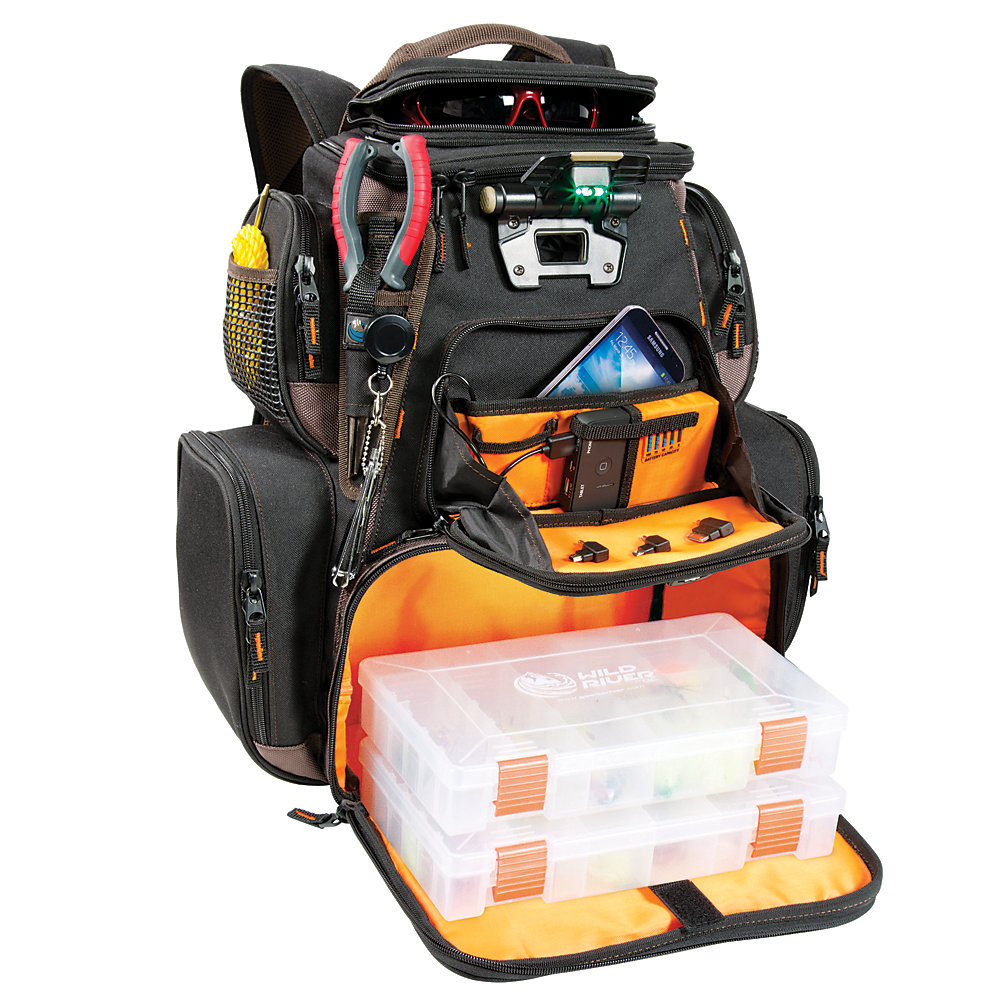 Tackle Tek Nomad - Lighted Xp Lighted Backpack With Usb Charging System With 2 - Pt3600 Trays