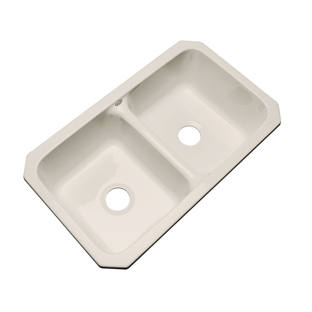 Thermocast Newport Undermount Double Bowl Desert Bloom Kitchen Sink