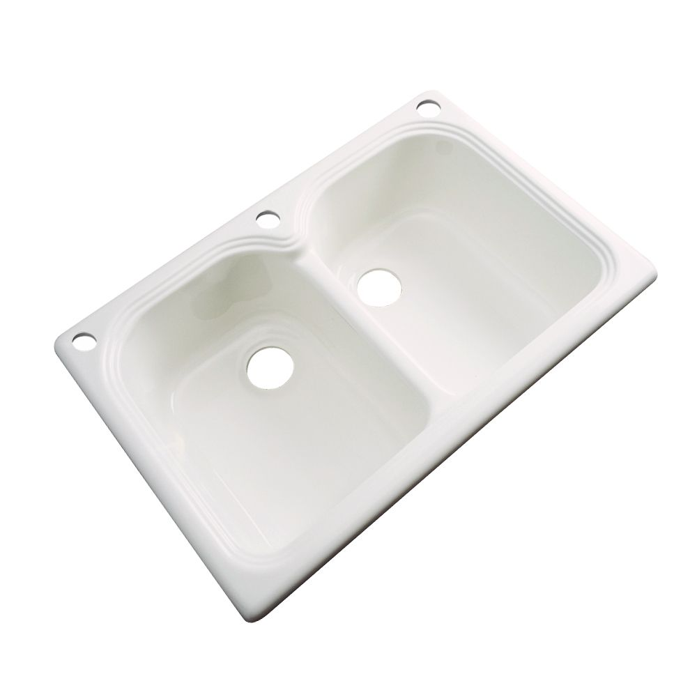 Thermocast Hartford 33 Inch Double Bowl Bone Kitchen Sink