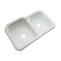 Thermocast Cambridge Undermount Double Bowl Sterling Silver Kitchen Sink