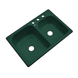 Thermocast Cambridge 33 Inch Double Bowl Timberline Kitchen Sink