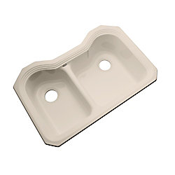 Thermocast Breckenridge Undermount Double Bowl Candlelyght Kitchen Sink