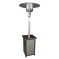 HomComfort Stainless Steel Propane Patio Heater with Wicker Stand