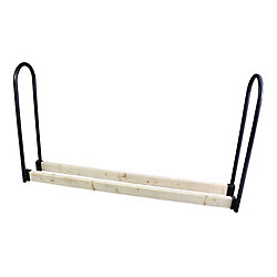 HomComfort Adjustable Log Rack W/ Steel UpriGHts