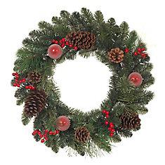 24-inch Mixed Pine Wreath