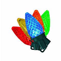 100 Ampoules C7  á DEL Multicolore
