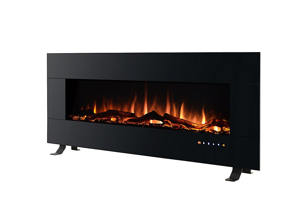 Hampton Bay 50 Inch W Electric Wall Mount Fireplace The Home Depot