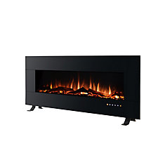50-inch W Electric Wall-Mount Fireplace