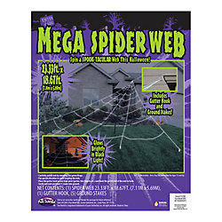 Fun World Mega 23 ft. x 18 ft. Yard Web Halloween Decoration