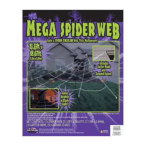 Mega 23 ft. x 18 ft. Yard Web Halloween Decoration