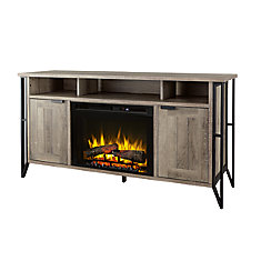64-inch W x 20.25-inch D x 33.25-inch H Greyson Media Console with Greystone Finish
