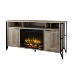 Home Decorators Collection 64-inch W x 20.25-inch D x 33.25-inch H Greyson Media Console with Greystone Finish
