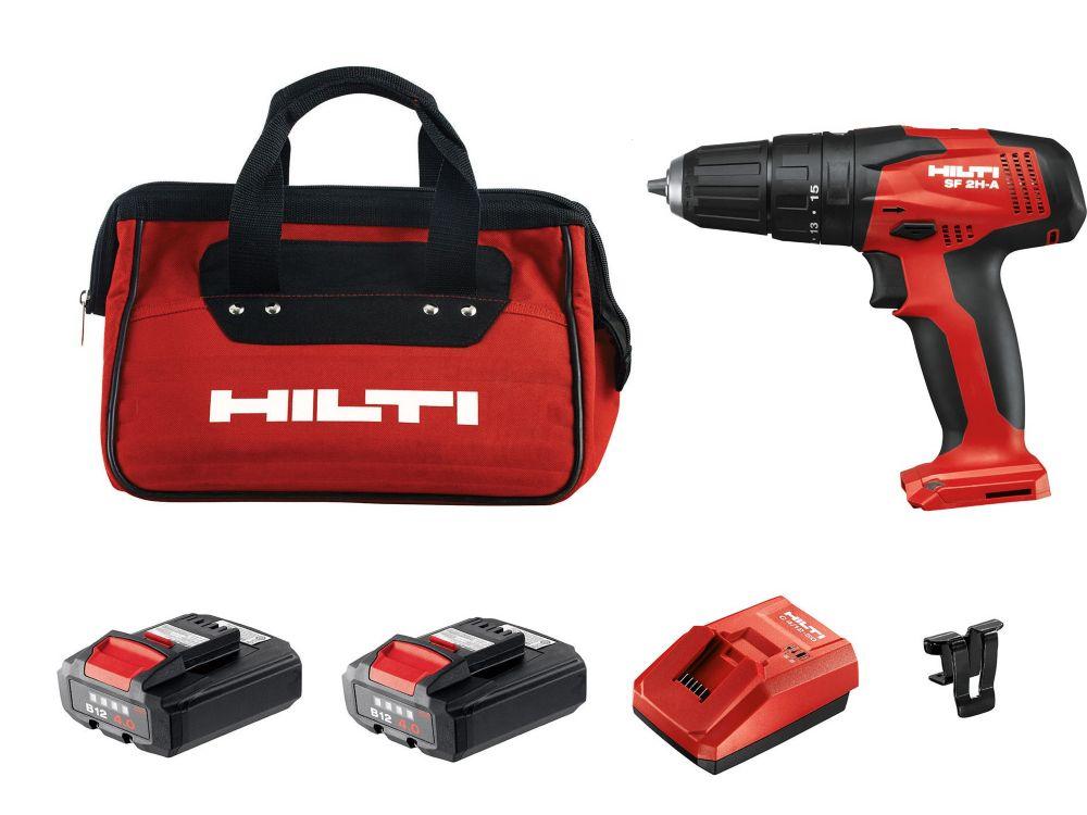 Hilti 12-Volt Lithium-Ion 3/8 Inch Cordless Hammer Drill/Driver SF 2H-A