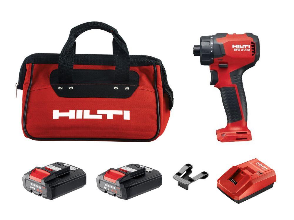 Hilti 12-Volt Lithium-Ion 1/4 Inch Cordless Drill Driver SFD 2-A