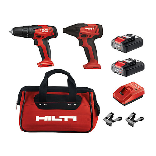 12-Volt Lithium-Ion Cordless Rotary Hammer Drill/Impact Driver Combo Kit (2-Tool)