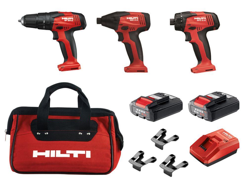 12V Li-Ion Cordless Rotary Impact Driver/Impact Driver/Drill Driver Combo Kit (3-Tool)