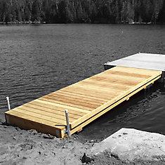 Heavy Duty Semi-Floating Wood Dock Kit