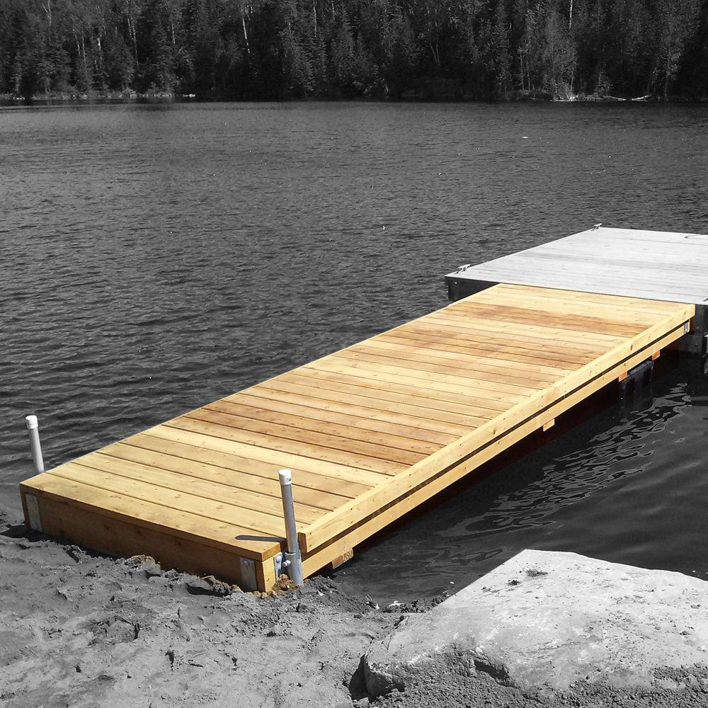 Multinautic Heavy Duty Semi-Floating Wood Dock Kit