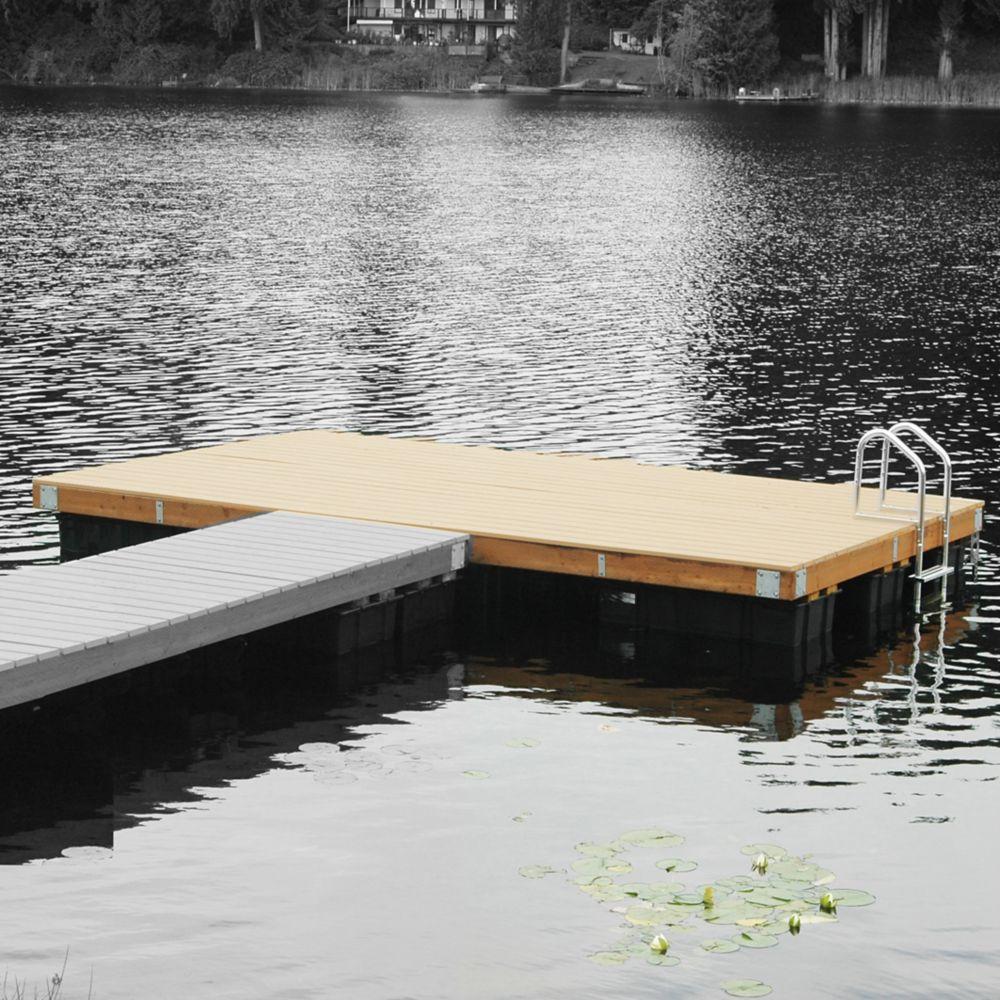 Multinautic Medium Freeboard Floating Wood Dock