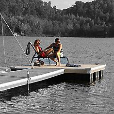 High Freeboard Floating Wood Dock