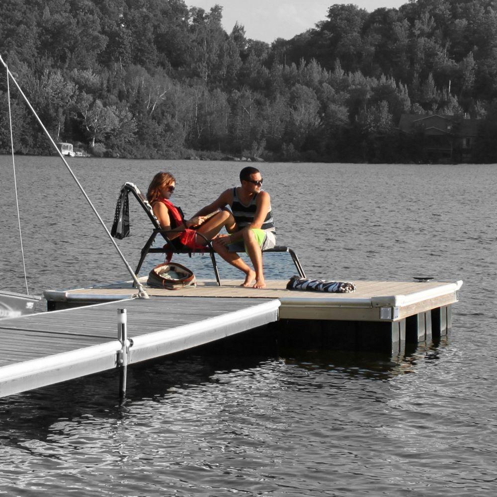 Multinautic High Freeboard Floating Wood Dock