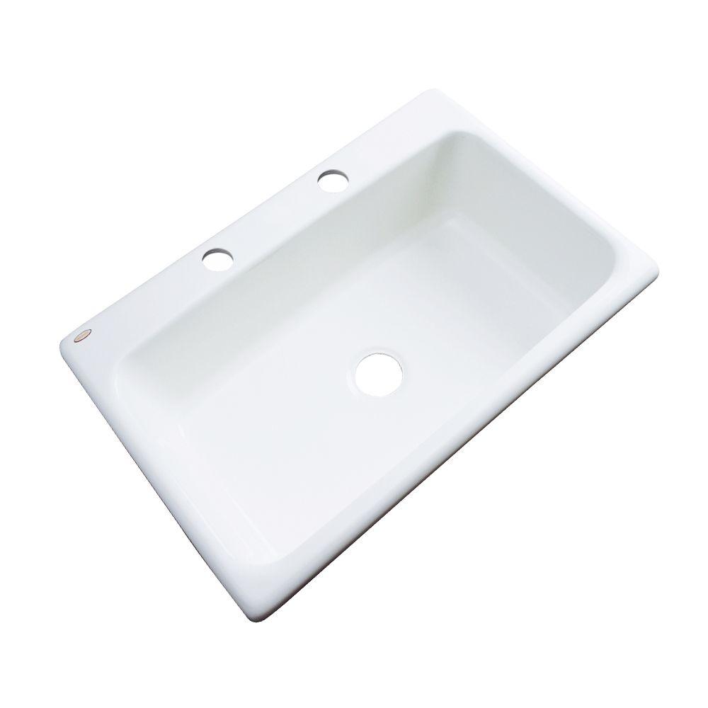 Thermocast Manhattan 33 Inch Single Bowl White Kitchen Sink