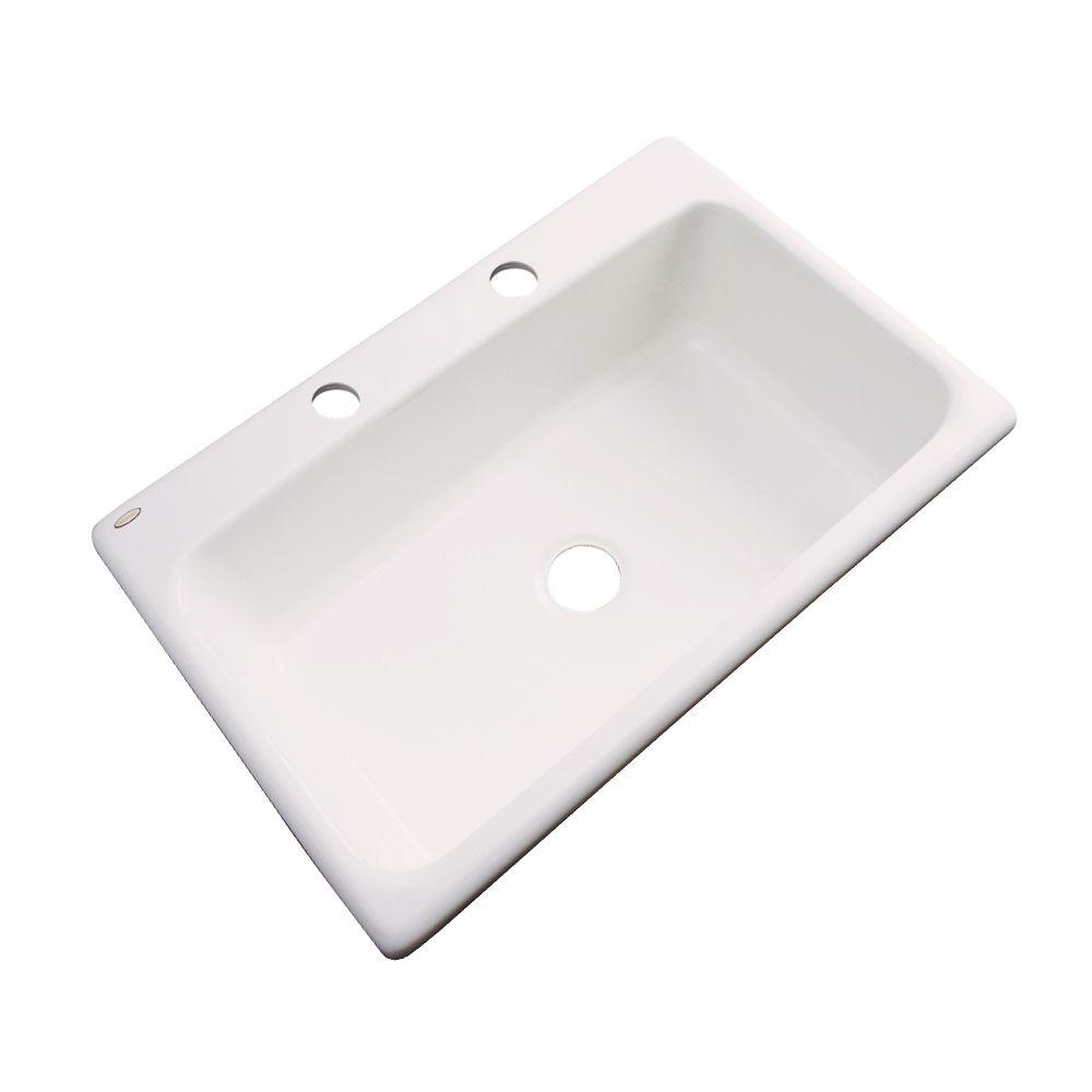 Thermocast Manhattan 33 Inch Single Bowl Bone Kitchen Sink