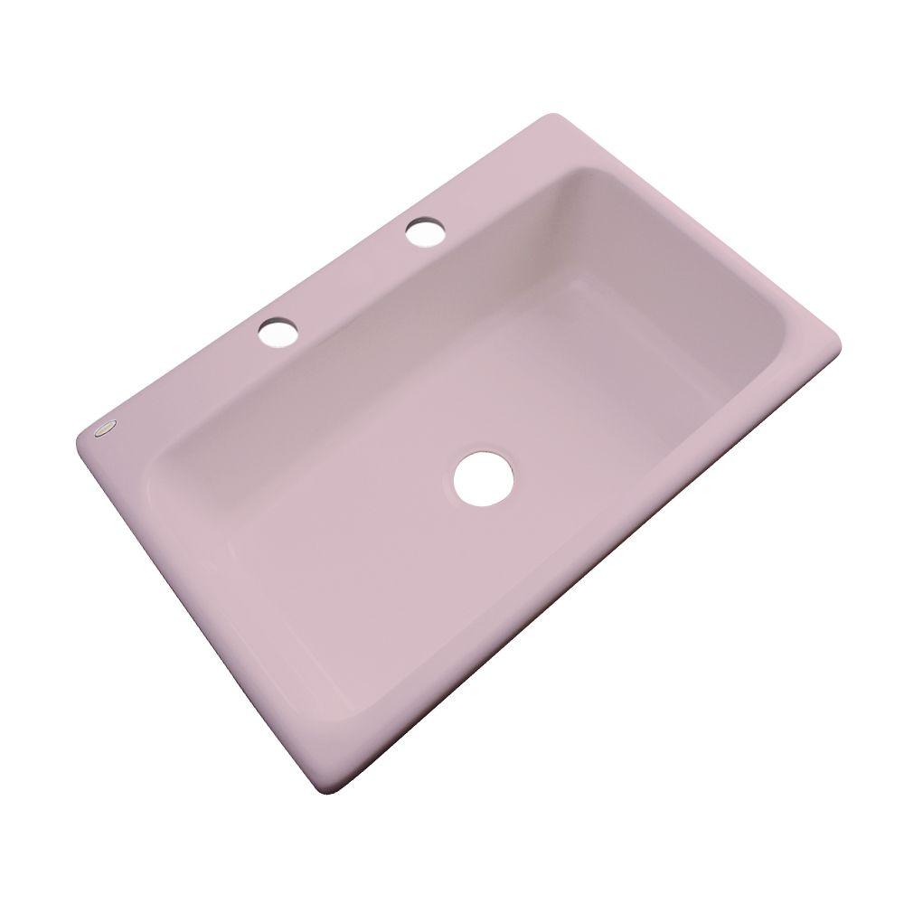 Thermocast Manhattan 33 Inch Single Bowl Wild Rose Kitchen Sink