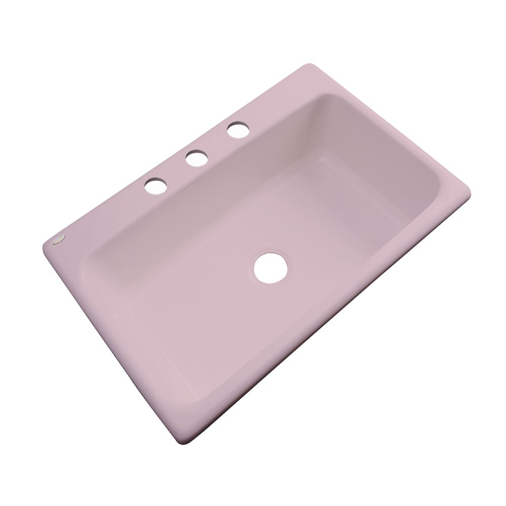Thermocast Manhattan 33 Inch Single Bowl Wild Rose Kitchen Sink