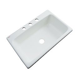 Thermocast Manhattan 33 Inch Single Bowl Ice Gray Kitchen Sink